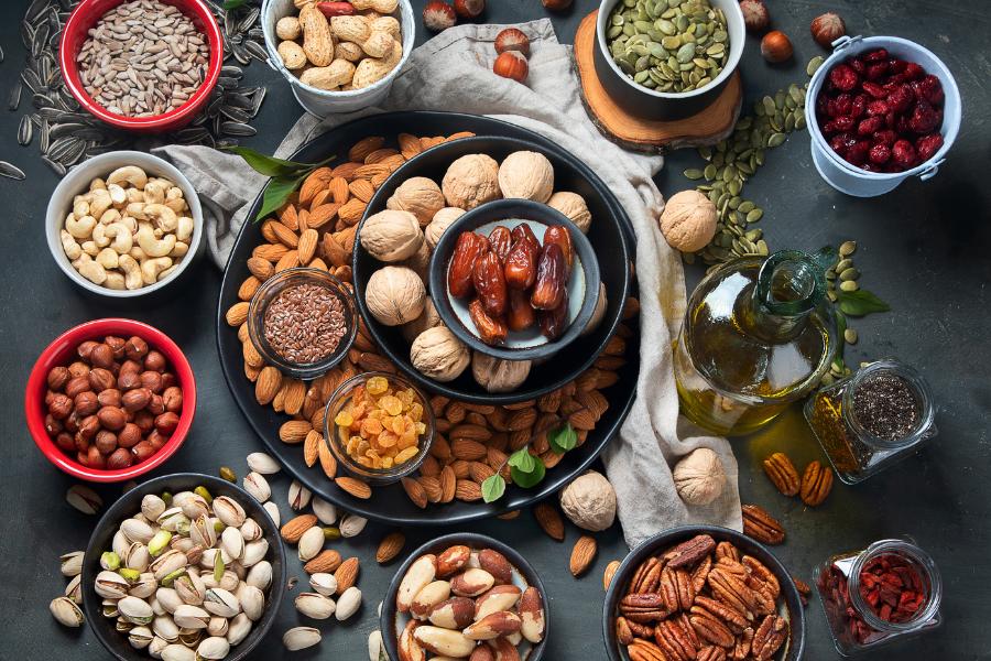 ¿Cuáles son las propiedades de los frutos secos?